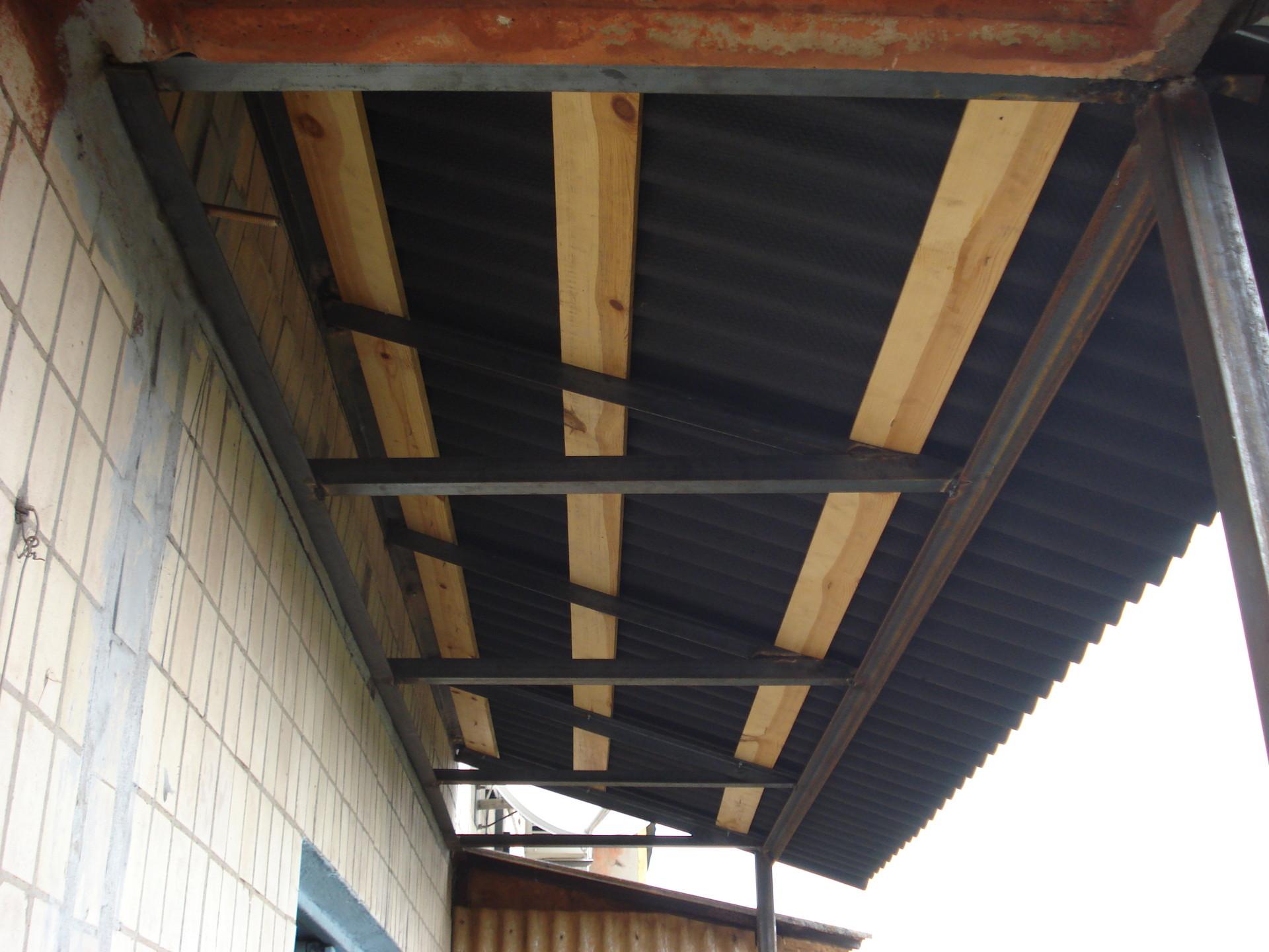 Обшить крышу балкон своими руками 7