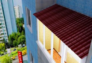 Крыша на балконе под ключ